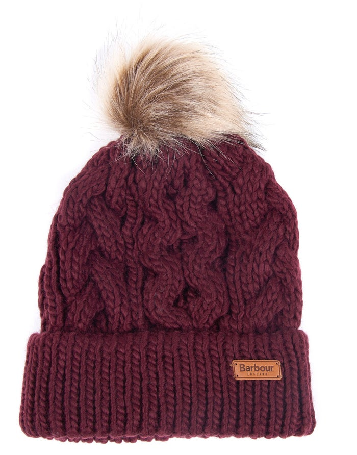 Barbour Penshaw Beanie Bordeaux