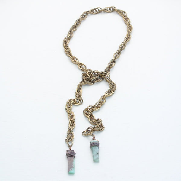 d7f311e5646 Canoe Peruvian Opal and Antique Gold Rope Chain