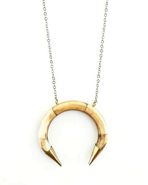BELJOY Storm Necklace Brown/Ivory