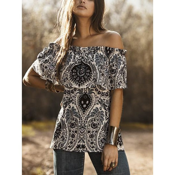 ASTARS Layer Cake Off The Shoulder Tunic