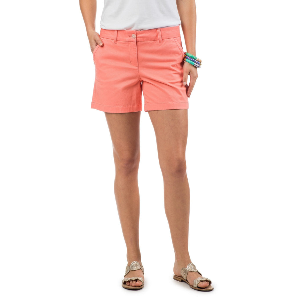 "Southern Tide 5"" Caroline Short Light Coral"