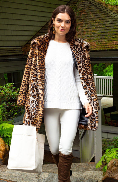 Tyler Boe Faux Cheetah Jacket Multi