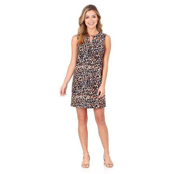Jude Connally Nadine Shift Dress in Cheetah Black