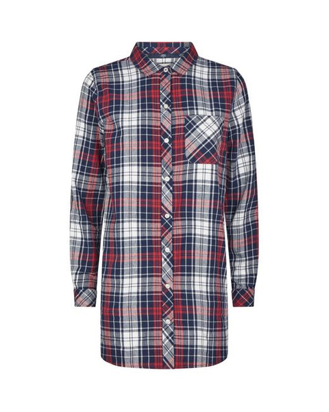 Barbour Coastal Shirt Navy/Deep Pink Check