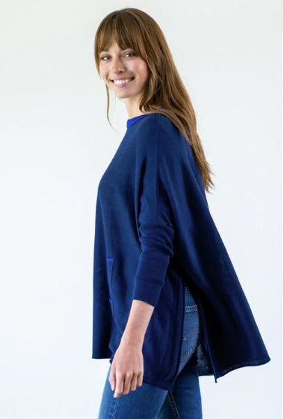 Mersea The Catalina Travel Ringer Sweater Cobalt