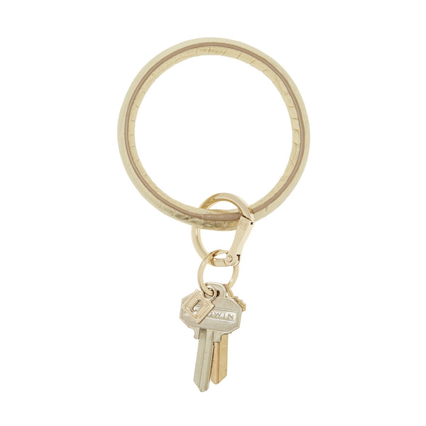 O-Venture Solid Gold Rush Croc Key Ring