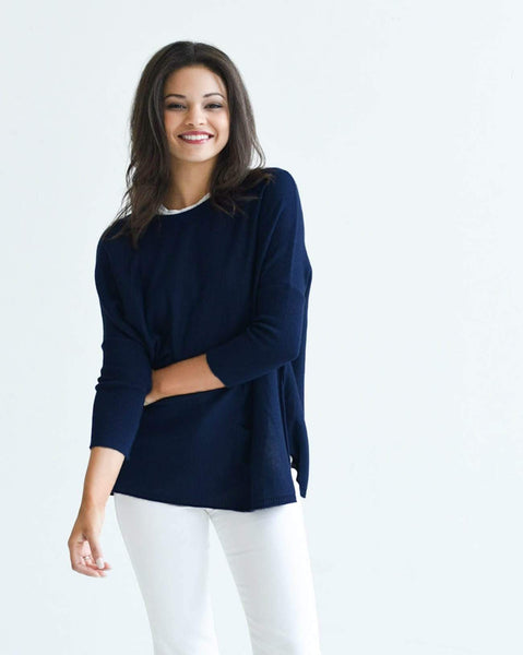Mersea The Catalina Travel Sweater Deep Water