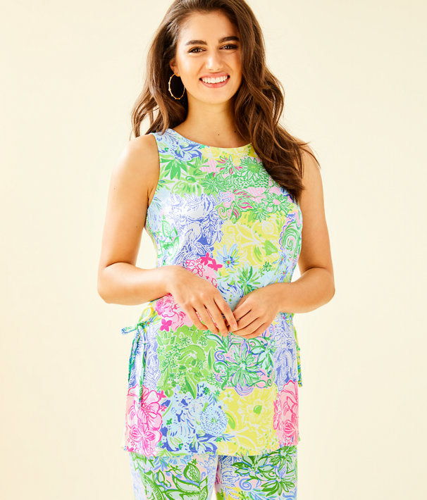 Lilly Pulitzer Donna Top Multi Cheek To Cheek