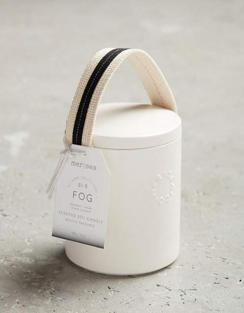 Mersea Stiched Handle Candle Fog