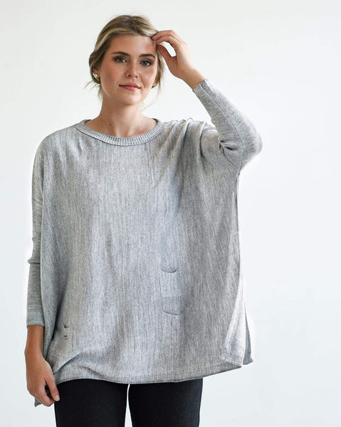 Mersea Catalina Travel Sweater Fog