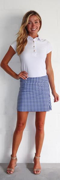 Jude Connally Morgan Skort Gingham Navy