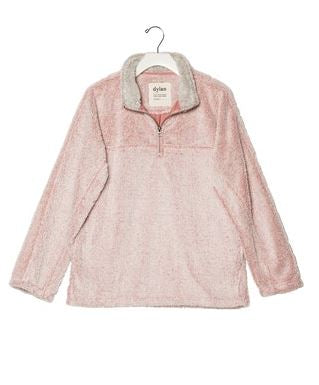 Dylan Shag Sherpa Pullover Happy Pink