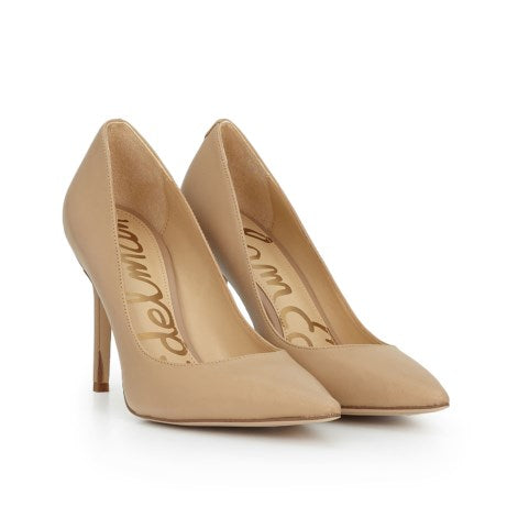 Sam Edelman Hazel Pointed Toe Heel Classic Nude Leather