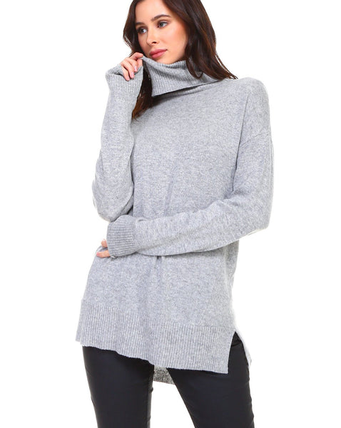 JOH Cashmere Sarah Sweater Heather Gray