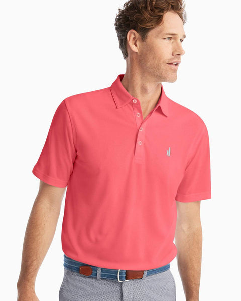 Johnnie-O Fairway PREP-FORMANCE Pique Polo Coral Reef