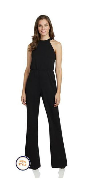 Jude Connally Edie Stretch Crepe Jumpsuit Black