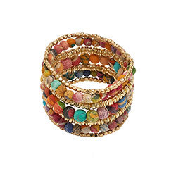 WorldFinds Kantha Layered Bracelet