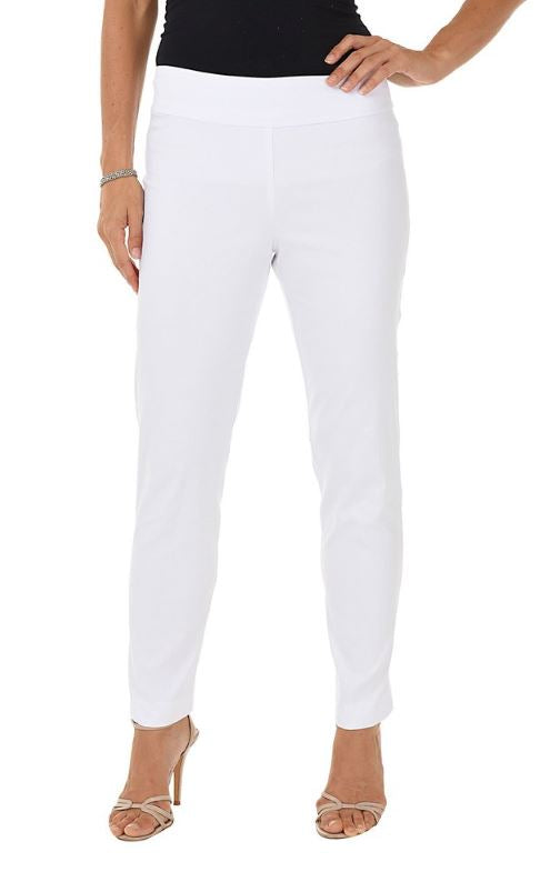 Krazy Larry Women's Pull On Ankle Pant White