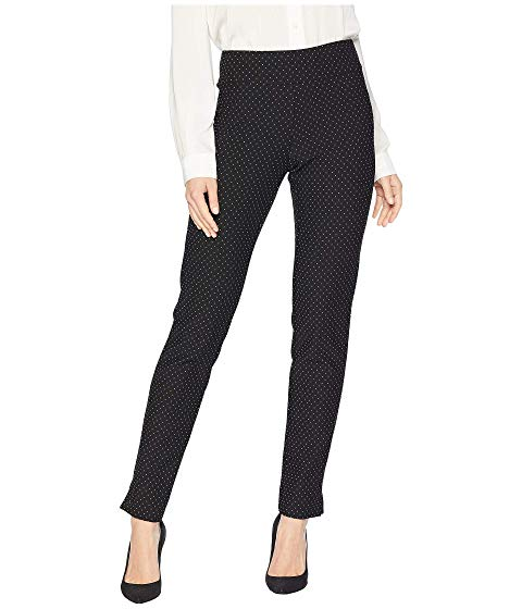 Krazy Larry Ribbed Pindot Ponte Long Pull-On Pants