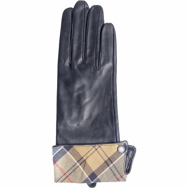 Barbour Lady Jane Leather Gloves Black With Dress