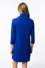 Tyler Boe Kim Cowl Neck Cotton/Cashmere Dress Lapis
