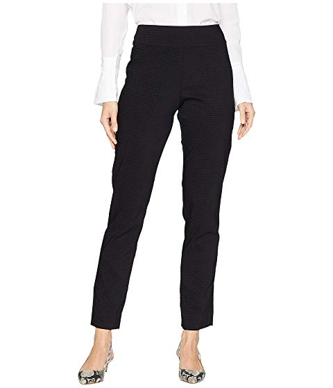 Krazy Larry Black Velvet Dot Pull-On Ankle Pant