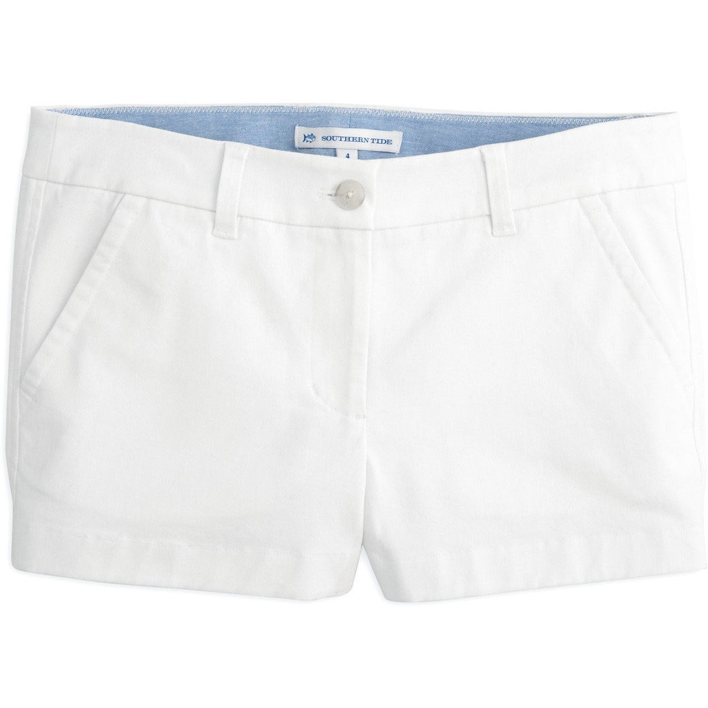 "Southern Tide 3"" Leah Short Classic White"