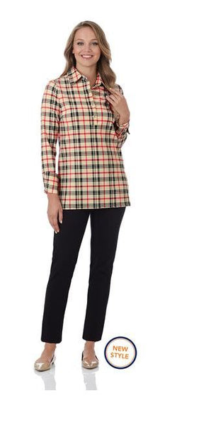 Jude Connally Logan Top Fall Tartan Camel