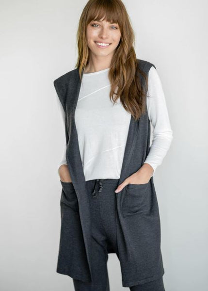 Mersea Lovecycled Vest with Hood Charcoal