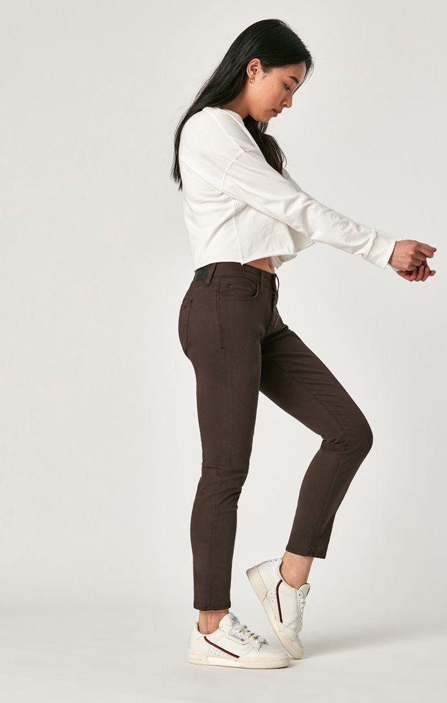 Mavi Alexa Ankle Skinny Black Coffee Sateen