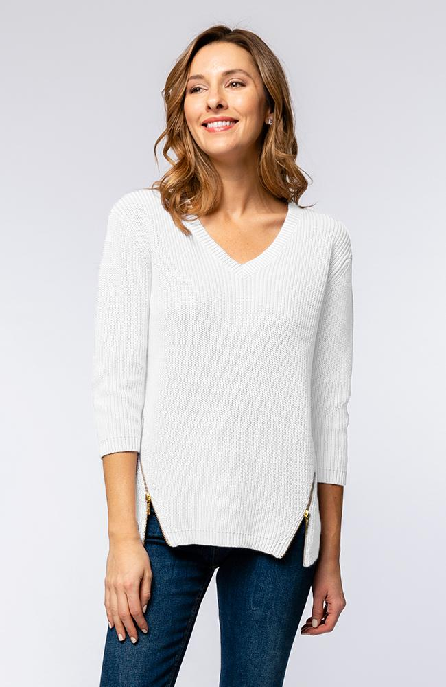 Tyler Boe Mineral Wash V Sweater White
