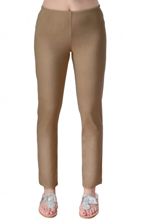 Gretchen Scott Gripe Less Pull-On Pant Mocha Latte