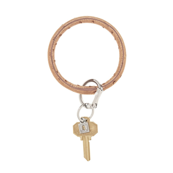O-Venture Mocha Ostrich Big O Key Ring