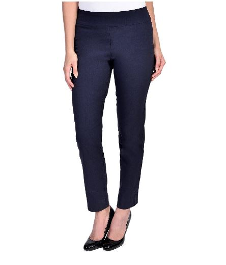 Krazy Larry Women's Pull On Ankle Pant Navy