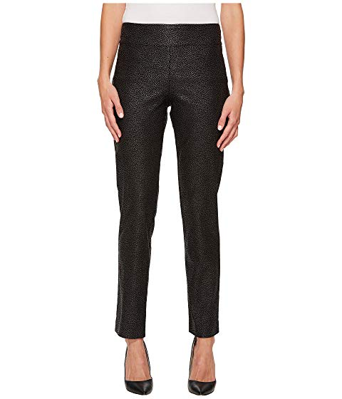 Krazy Larry Black Pebble Pull-On Ankle Pant
