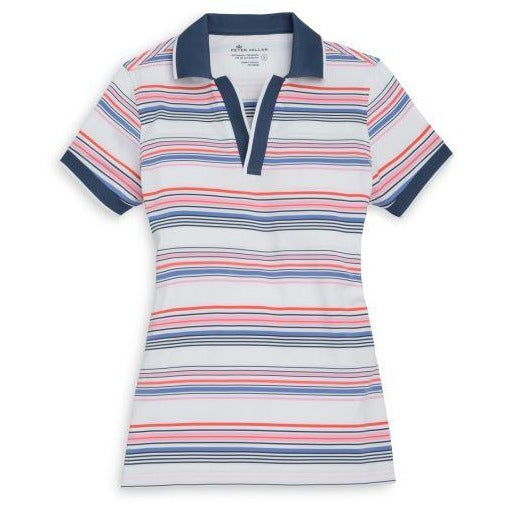 Peter Millar Drop-V Tipped Polo Shirt