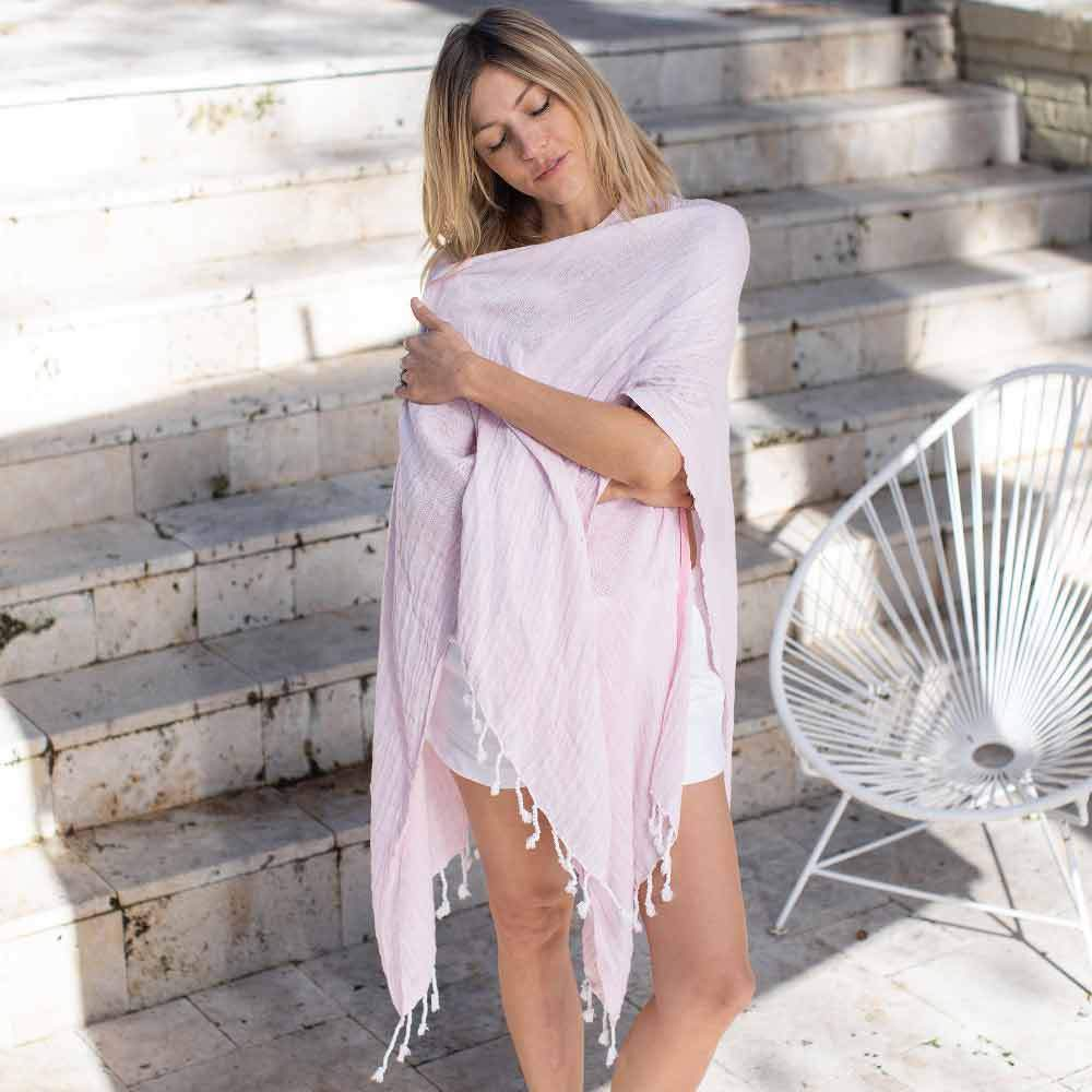 Mersea The Beach Wrap Pink
