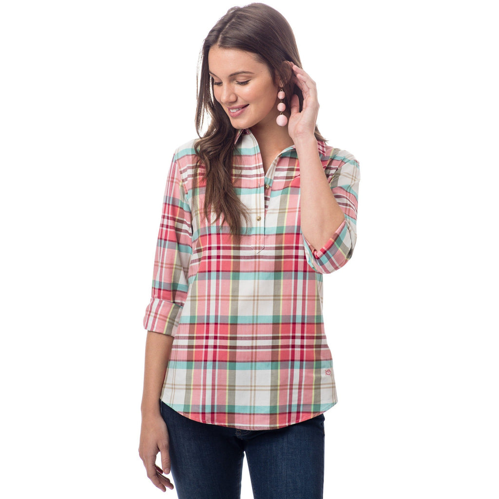 Southern Tide Mountain Plaid Hadley Popover