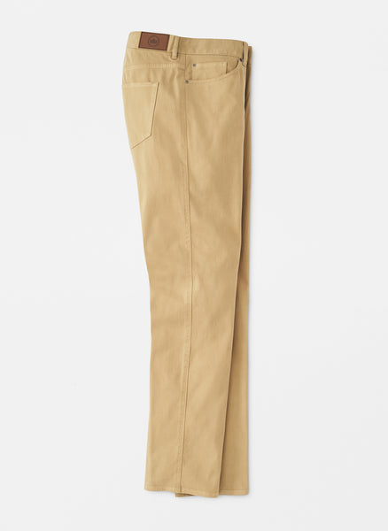 Peter Millar Crown Ultimate Sateen Five-Pocket Pant Khaki