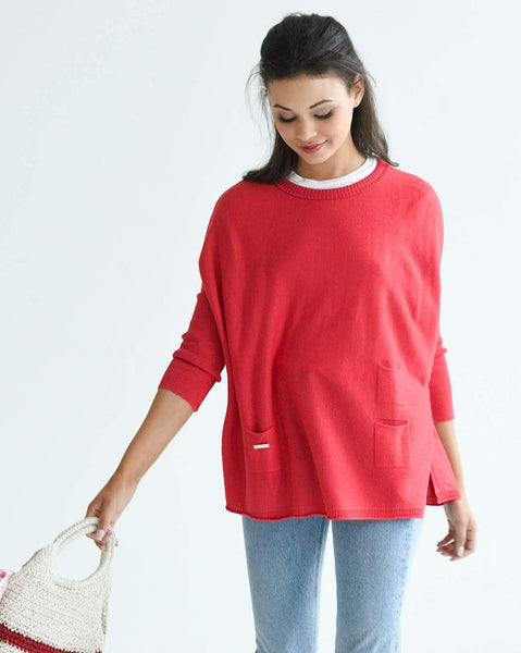 Mersea The Catalina Travel Sweater Poppy (Red)