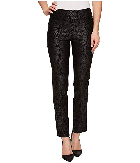 Krazy Larry Black Python Pull-On Ankle Pant