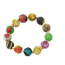 World Finds Kantha Bauble Bracelet