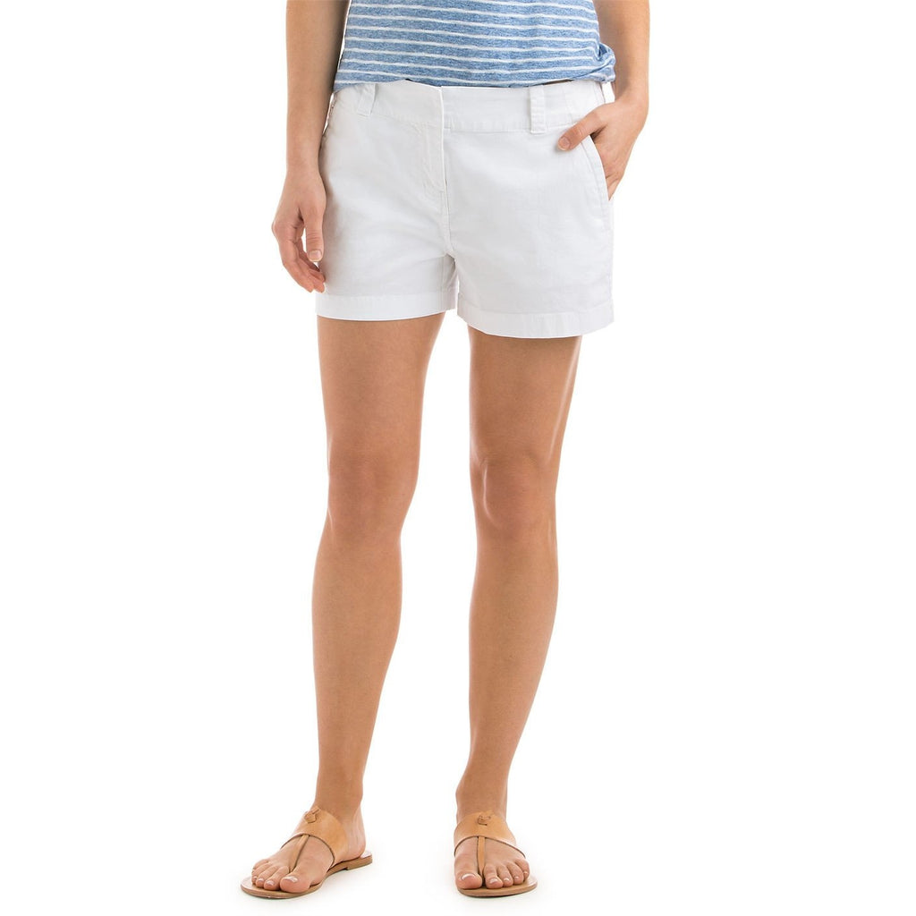 "Vineyard Vines 3.5"" Every Day Shorts White Cap"