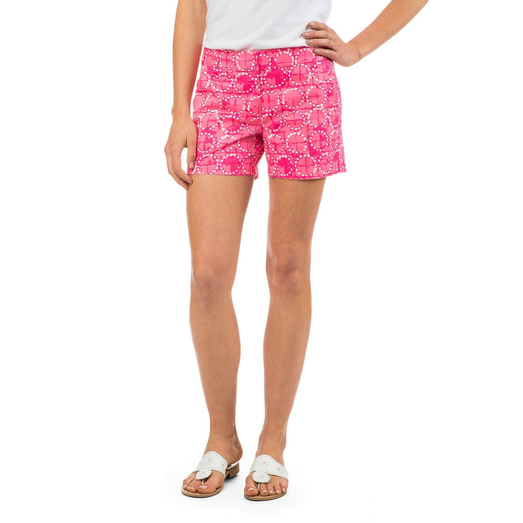 Southern Tide Sand Dollar Print Short Smoothie Pink