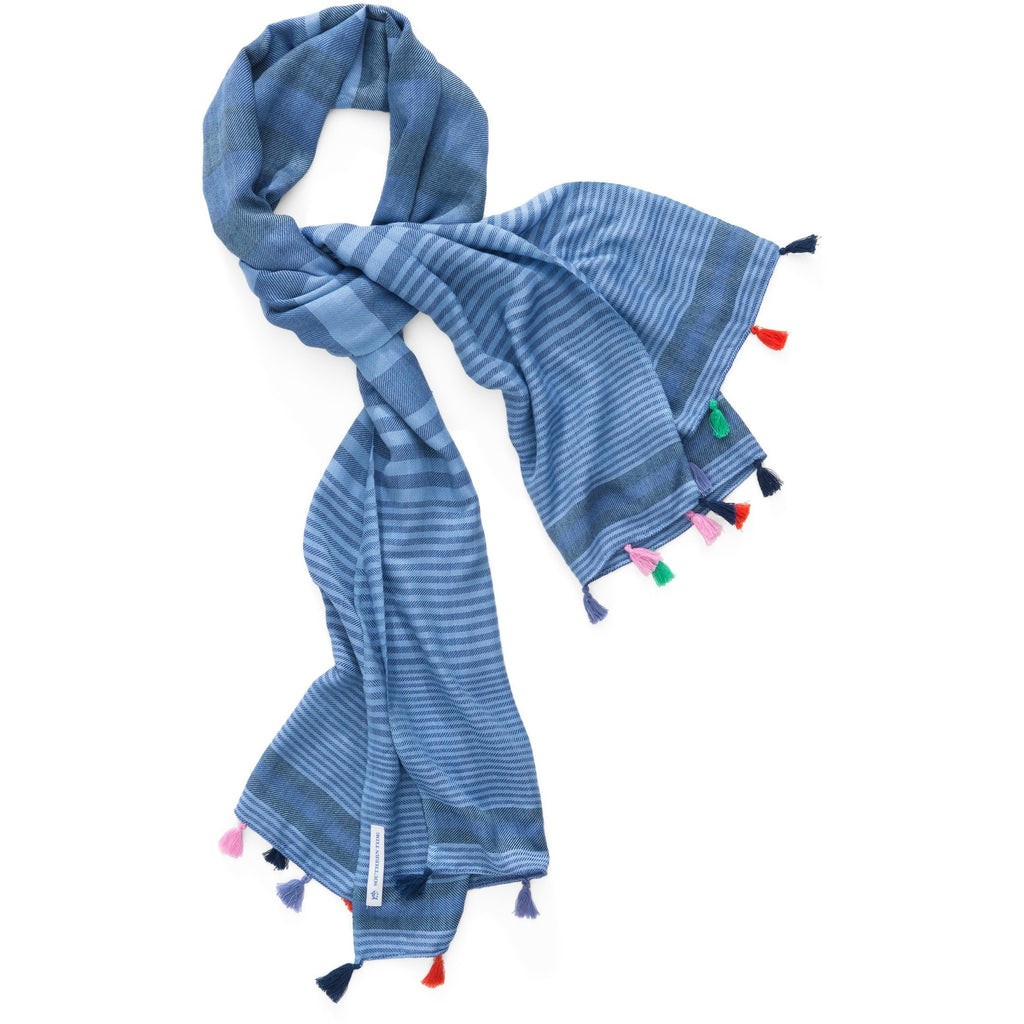 Southern Tide Blue Striped Scarf