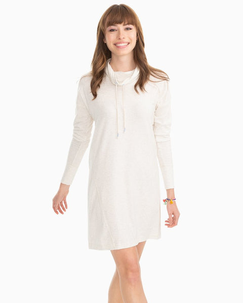Southern Tide Scuba Pullover Dress Heather Oatmeal