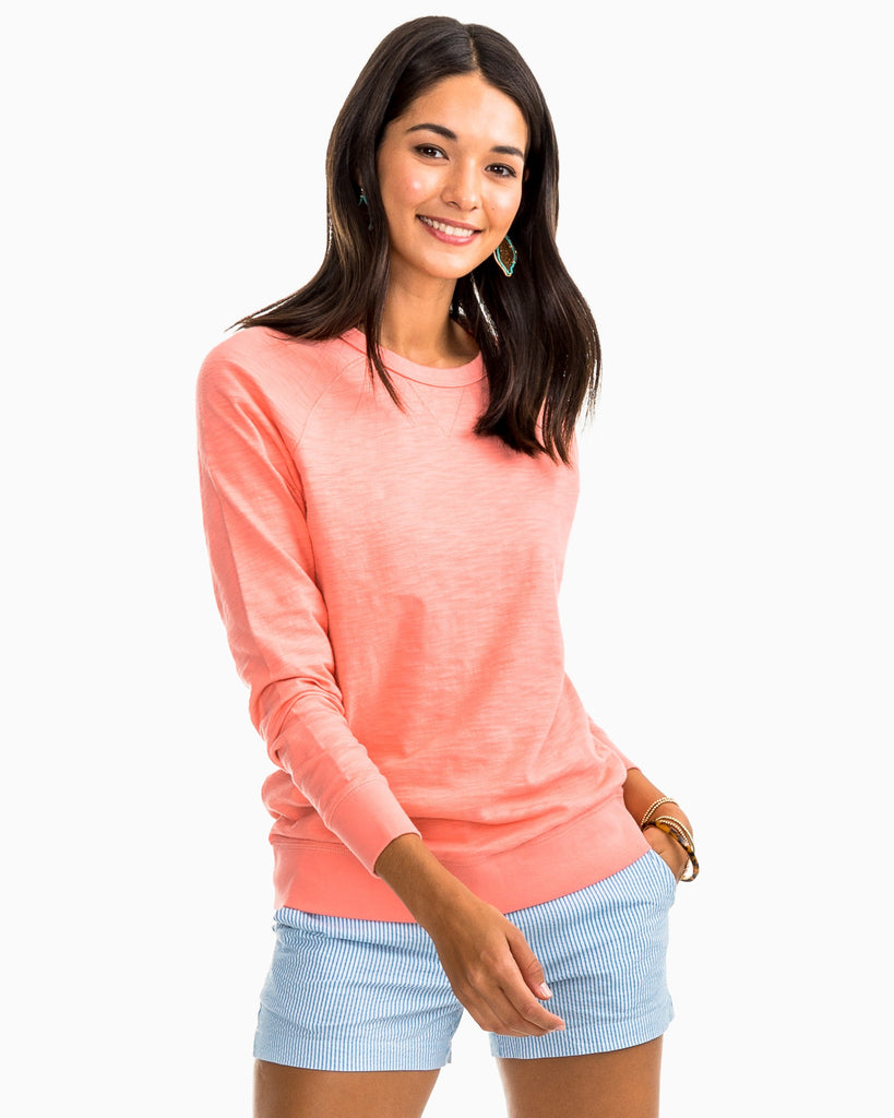Southern Tide Waterfront Crew Shell Pink