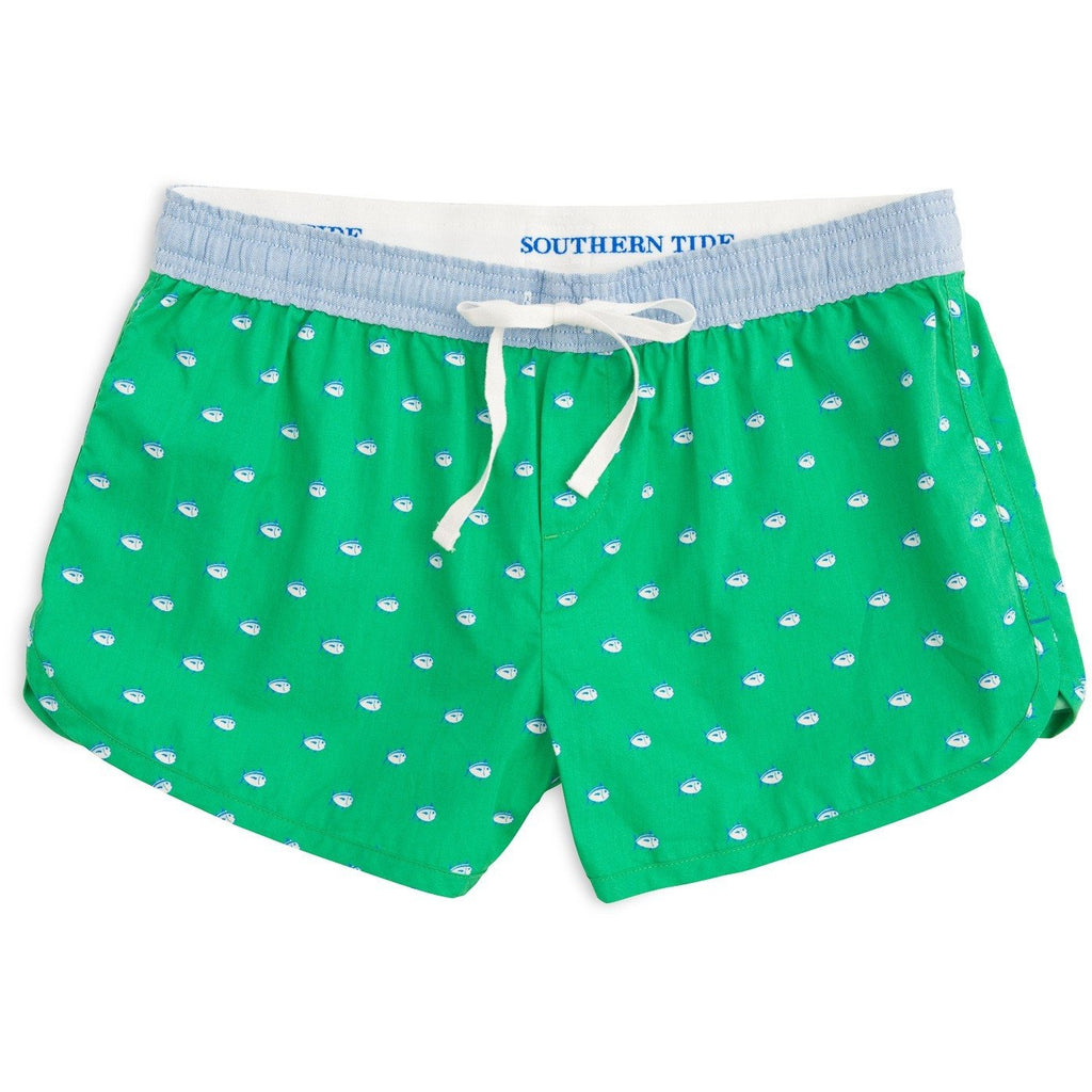 Southern Tide Womens Skipjack Lounge Short Seaglass