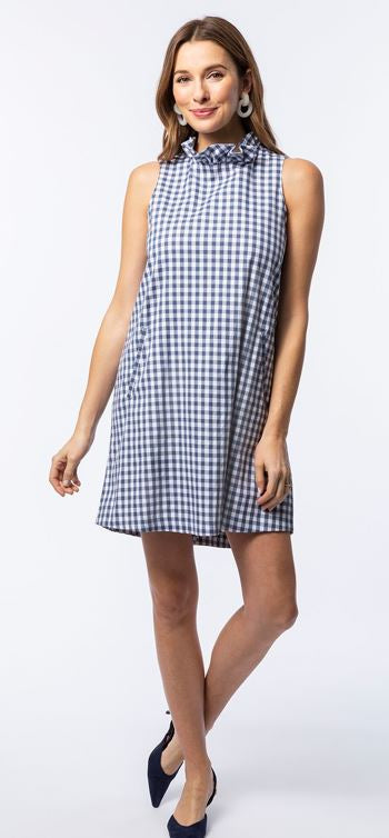 Tyler Boe Stella Gingham Dress Cadet