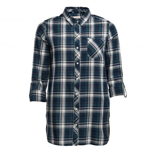 Barbour Sternway Shirt Green/White/Navy